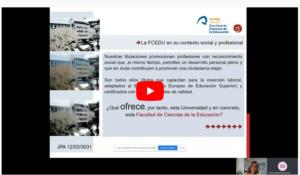 Pica en Presentación para acceder a un breve recorrido por la FCEDU